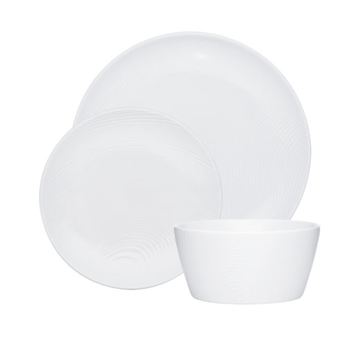 White on White Dune 12pce Dinner Set