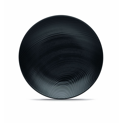 Black on Black Dune Salad Plate