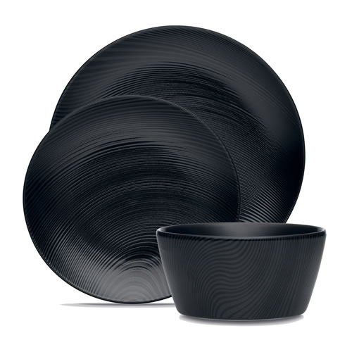 Black on Black Dune 12pce Dinner Set
