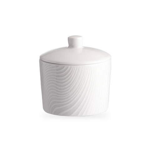 White on White Dune Sugar Bowl