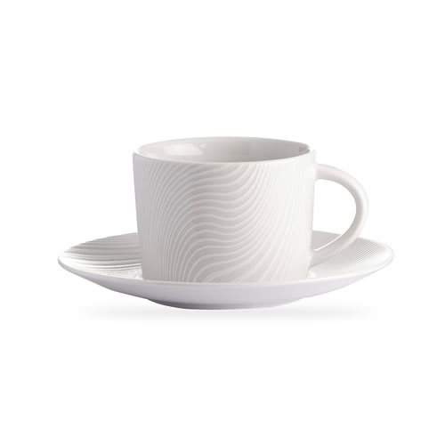 White on White Cup and Saucer