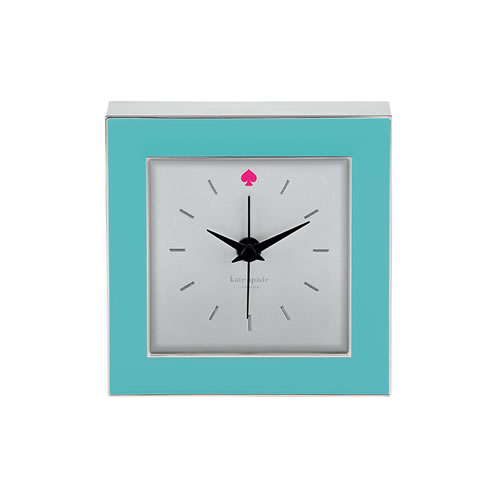 Cross Pointe Clock 9cm in Turquoise