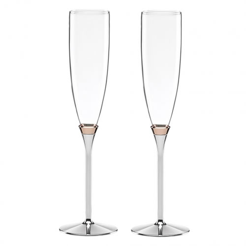 kate spade new york Rosy Glow Toasting Flute Pair 25cm