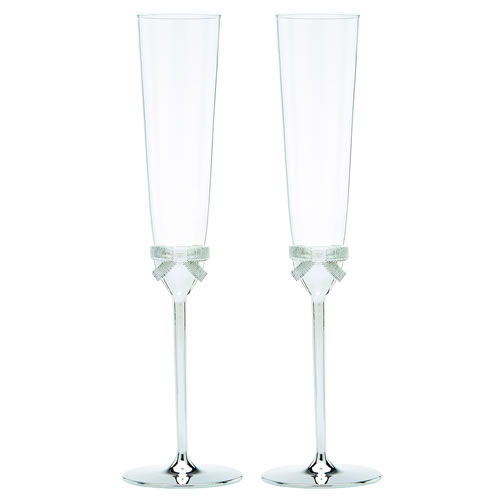 kate spade new york Grace Avenue Toasting Flute Pair