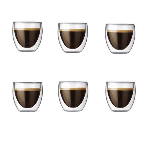 Pavina Double Wall Espresso Shot Glass 80ml