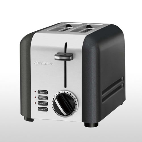 2 Slice Toaster in Brushed Stainless Steel and Titanium