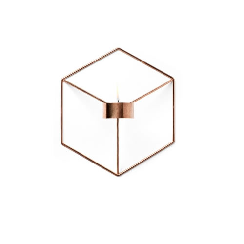 POV Candleholder Wall in Copper