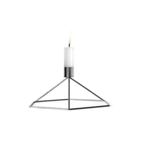 POV Candleholder Table in Chrome