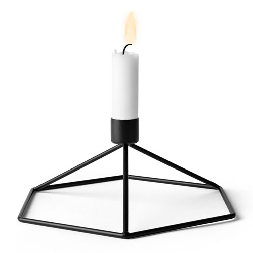 POV Candleholder Table in Black