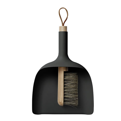 Menu Sweeper Dustpan and Broom Black