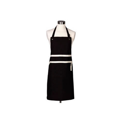 Satin Black Chefs Apron