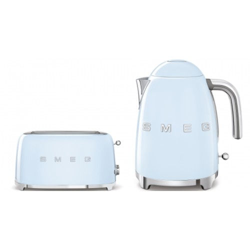 Smeg - 1.7L 50's Style Kettle & 4 Slice Toaster Pack - Pale Blue