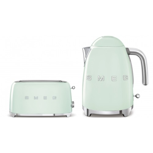 Smeg 50's Style Kettle & 4 Slice Toaster Pack Pastel Green