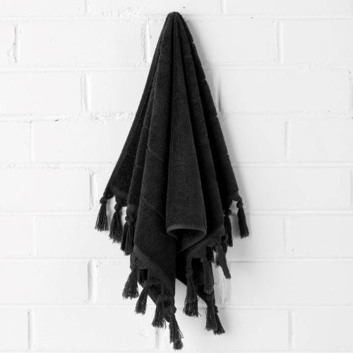 Paro Hand Towel in Black