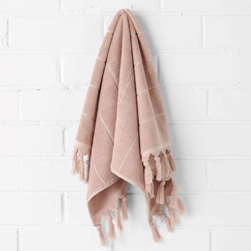 Paros Hand Towel in Pink Clay