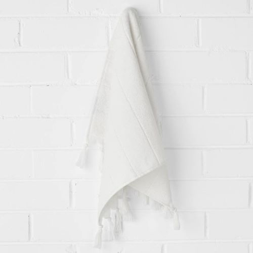 Paros Hand Towel in White Wash