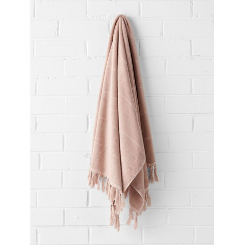Paros Bath Sheet in Pink Clay