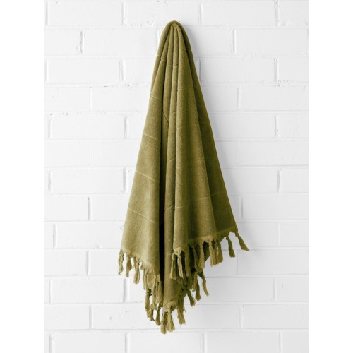 Paros Bath Sheet in Olive
