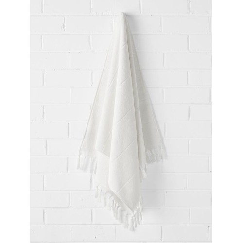 Paros Bath Sheet in White Wash