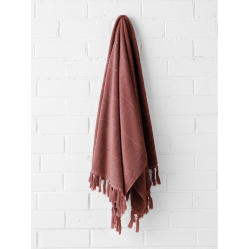 Paros Bath Towel in Mahogany