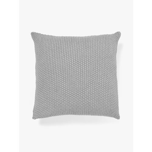 Moss Stitch Cushion in Grey