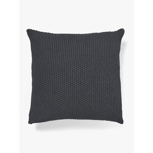 Moss Stitch Cushion in Charcoal