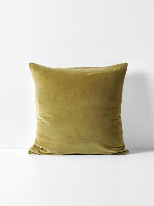 Velvet Luxury Cushion in Olive
