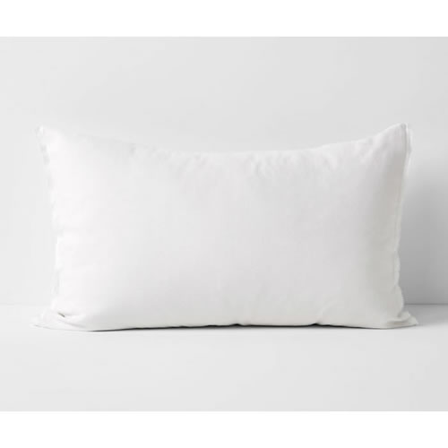 Maison Fringe Single Standard Pillowcase in White