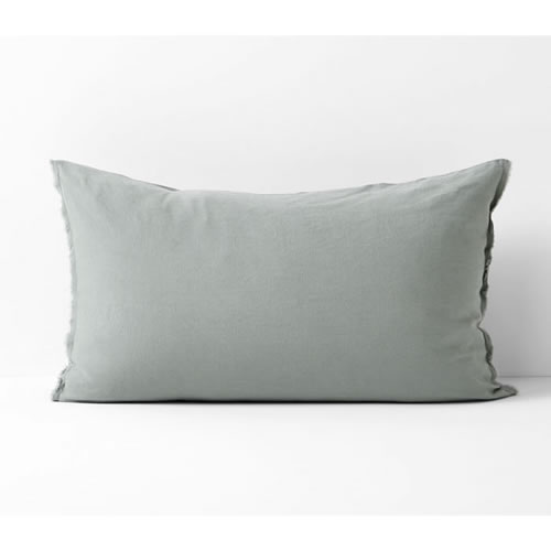 Maison Fringe Single Standard  Pillowcase in Sage