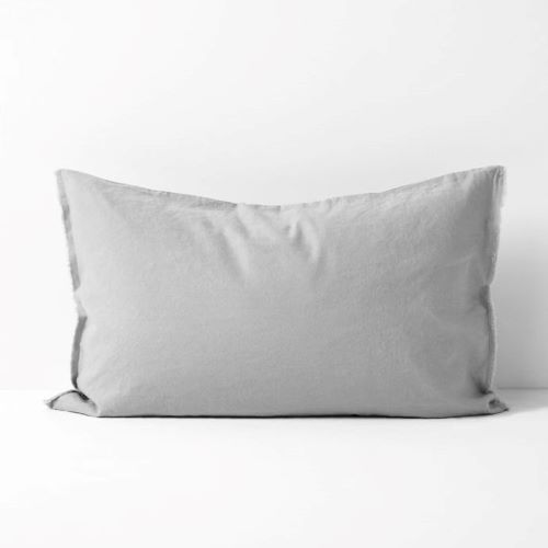 Maison Fringe Single Standard Pillowcase in Smoke