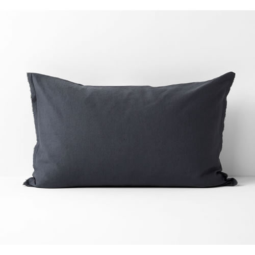 Maison Fringe Single Standard  Pillowcase in Greystone
