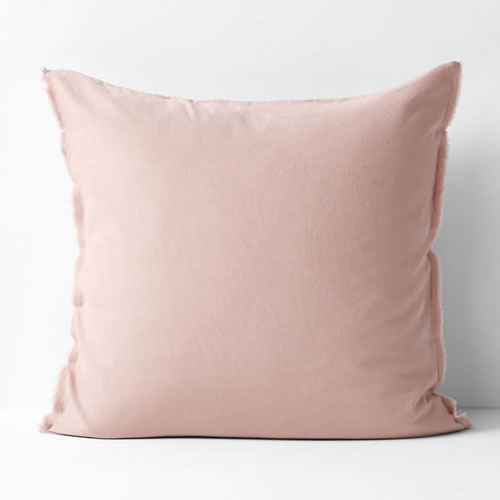 Maison Fringe Single European  Pillowcase in Rose Dust