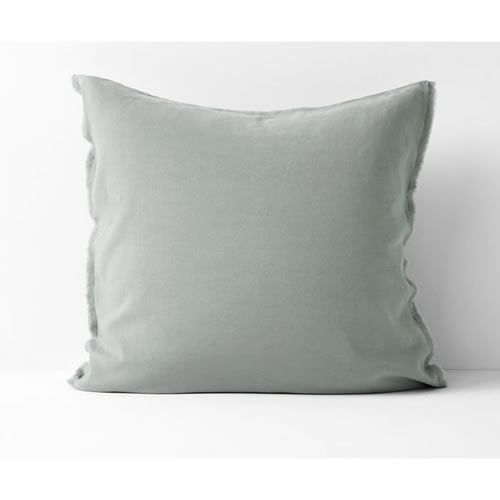 Maison Fringe Single European  Pillowcase in Sage