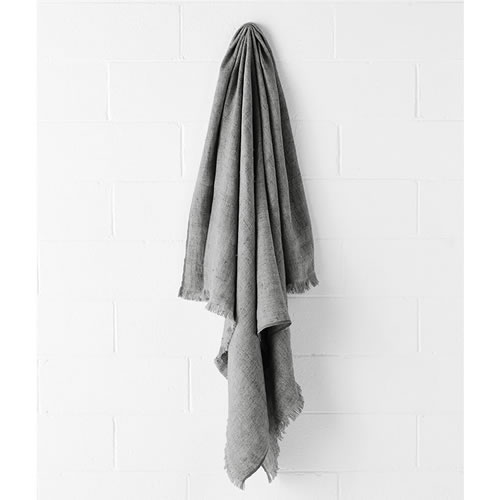 Vintage Smoke Linen Throw