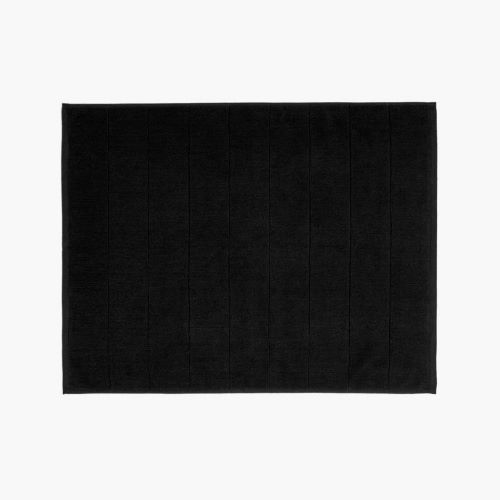 Paros Bath Mat in Black