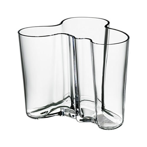 Alvar Aalto Collection Vase 120 mm in Clear