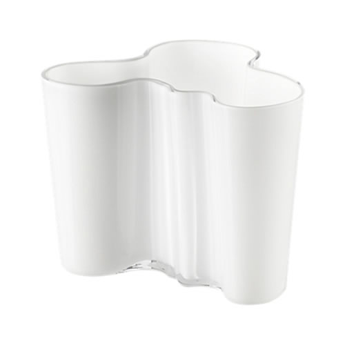 Alvar Aalto Collection Vase 120mm in Opal White