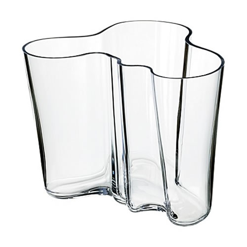 Alvar Aalto Collection Vase 160 mm in Clear