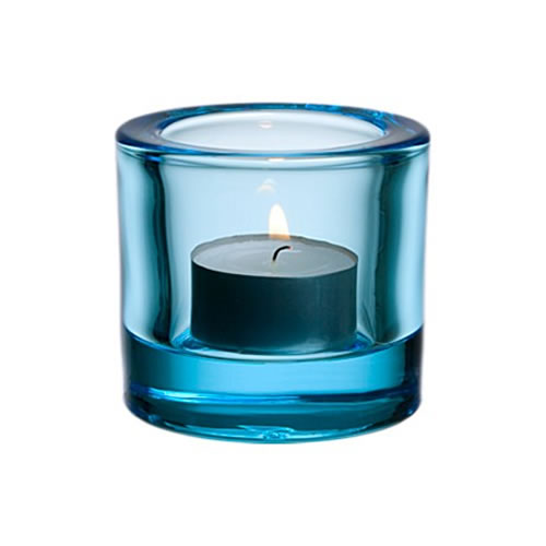 Kivi Tea Light Holder in Light Blue