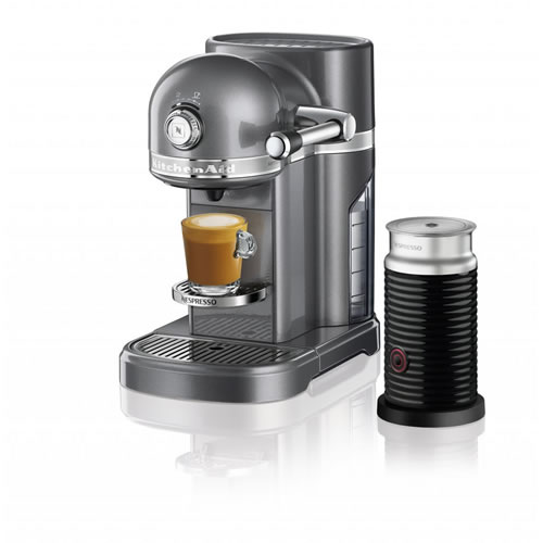 KES0504 Nespresso Machine in Medallion Silver
