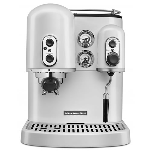 KES2102 Espresso Machine in Frosted Pearl