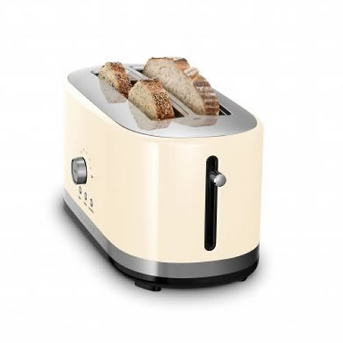 KMT4116 4 Slice Long Slot Toaster in Almond Cream