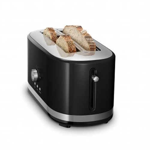 KMT4116 4 Slice Long Slot Toaster in Black