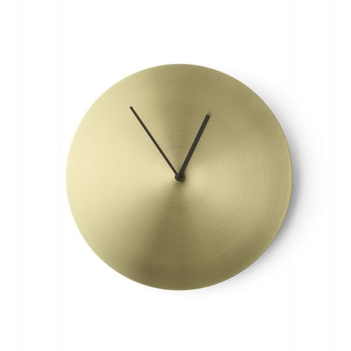 Norm Wall Clock Brushed Brass