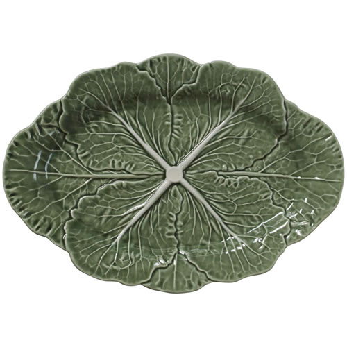 Cabbage Green Oval Platter 37.5cm