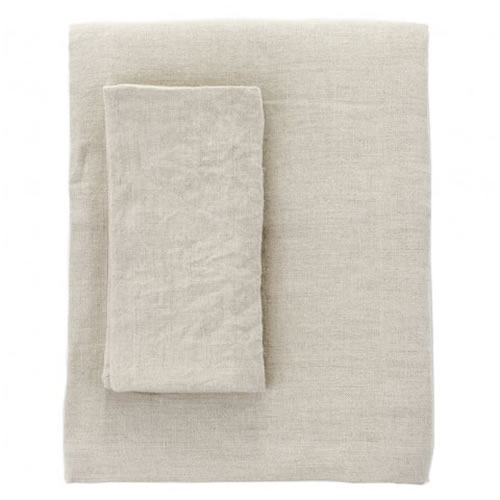 Moss Linen Napkin in Natural