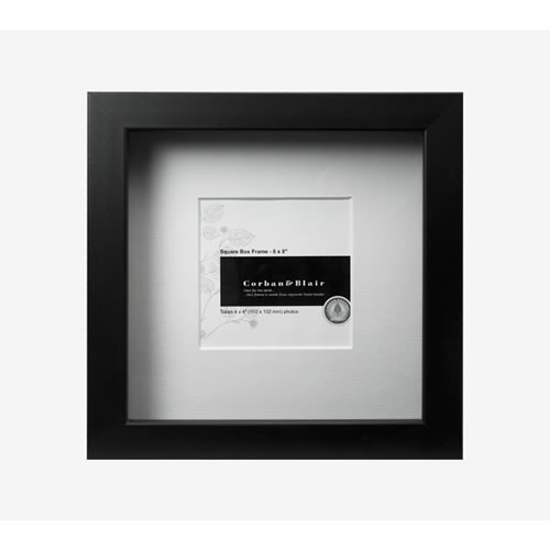 Square Box Frame 8x8 in Black