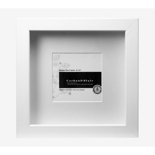 Square Box Frame 8x8 in White