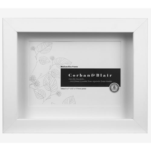 Box Frame 5x7 in White