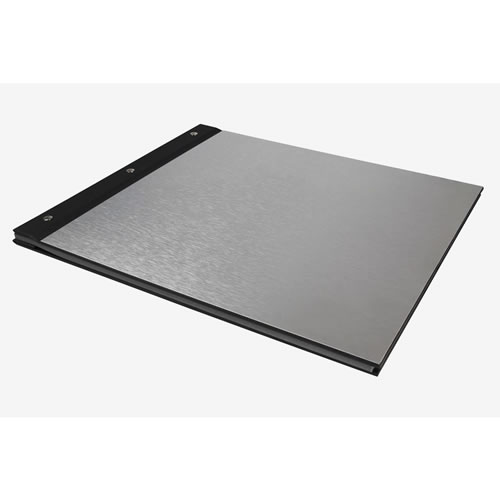 Album Metal & Black Book Cloth Engravable Large
